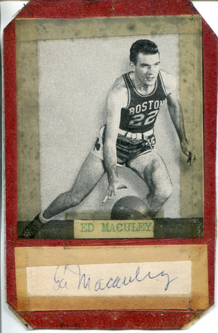 Ed Macauley Autographed Cut w/ Photo