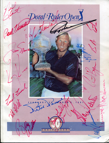 Greg Norman, Jack Nicklaus, & Others Signed 1991 Doral-Ryder Open Program