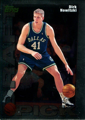 Dirk Nowitzki 1999 Topps Draft Pick Ropokie Card Unsigned