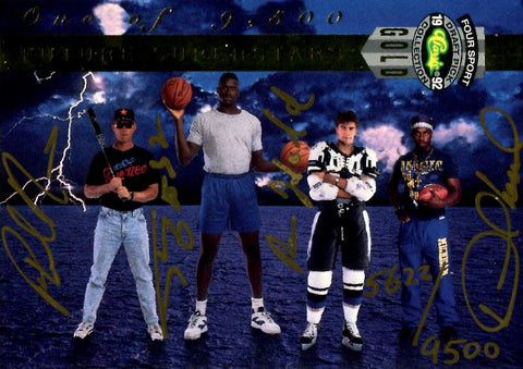Shaquille O'Neal & Others 1992 Classic Games Future Superstars Autographed Card #5622/9500