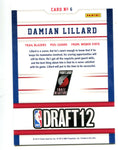 Damian Lillard 2012-13 Panini NBA Hoops Draft Night #6 Card
