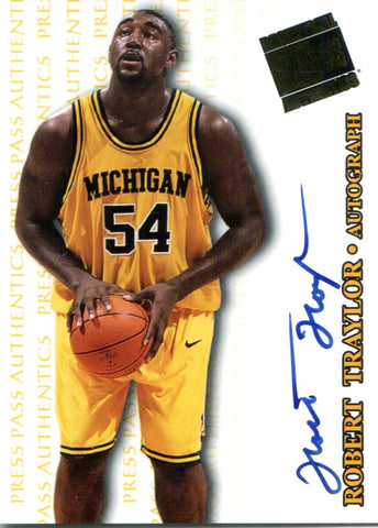 Robert Traylor Autographed 1998 Press Pass Rookie Card