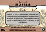 Nolan Ryan 2014 Triple Threads Game-Used/Autographed Card #51/99