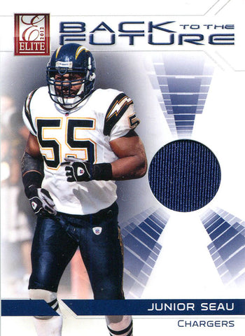 Junior Seau Unsigned 2012 Donruss Elite Jersey Card