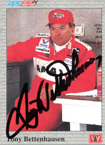 Tony Bettenhausen Autographed 1991 PPG Card