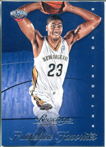 2013-14 Panini Prestige Franchise Favorites Anthony Davis #19 Card
