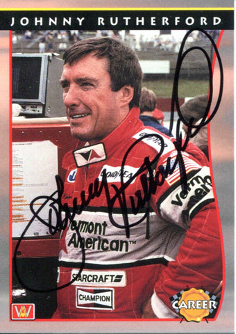 Johnny Rutherford Autographed 1992 PPG Card