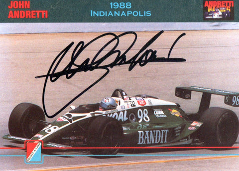 John Andretti Autographed 1992 Collect Card