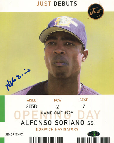 Alfonso Soriano Autographed 8x10 Photo