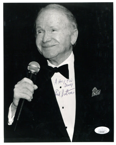 Red Buttons Autographed 8x10 Photo (JSA)