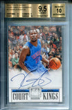 Kevin Durant Autographed 2012-13 Panini Elite Court Kings Card (BVG)