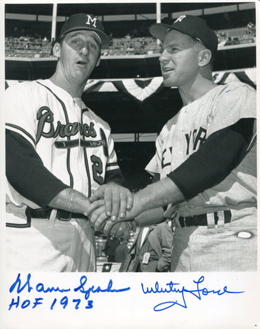 Spahn / Ford Autographed 8x10 Photo