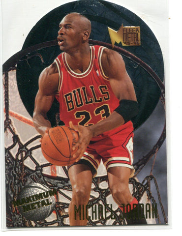 Michael Jordan 1995 Fleer Metal #4 Die Cut Card