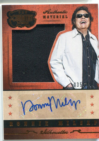 Ronnie Milsap Autographed 2014 Panini Country Music Relic Card 35/344