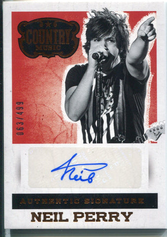 Neil Perry Autographed 2014 Panini Country Music Card 63/499