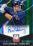 Evan Longoria Autographed 2014 Panini Elite Turn of the Century Card