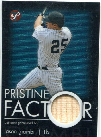 Jason Giambi 2003 Topps Pristine Factor Game-Used Bat Card