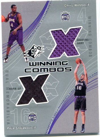 Chris Webber & Peja Stojakovic 2002 Upper Deck Dual Patch Card