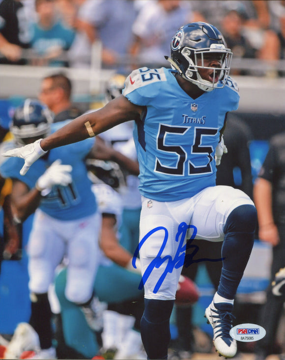 Jayon Brown Autographed Tennessee Titans 8x10 Photo (PSA)