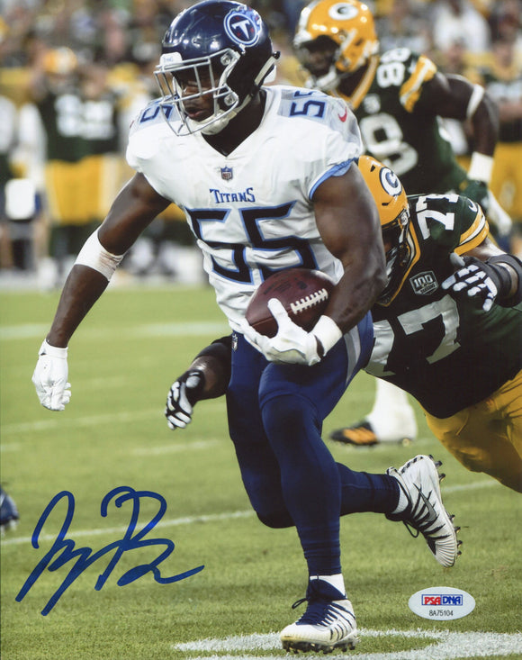 Jayon Brown Autographed Titans 8x10 Photo (PSA)