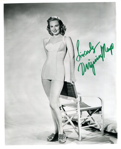 Virginia Mayo Autographed Black & White 8x10 Photo