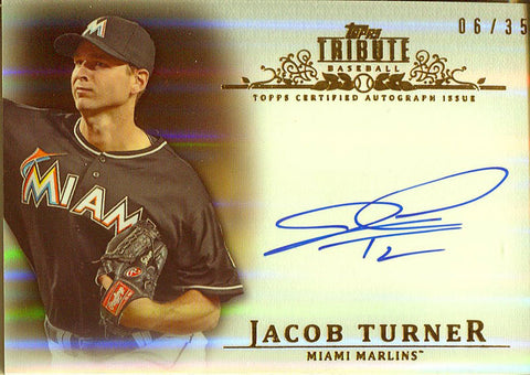 Jacob Turner Autographed 2013 Topps Tribute Card