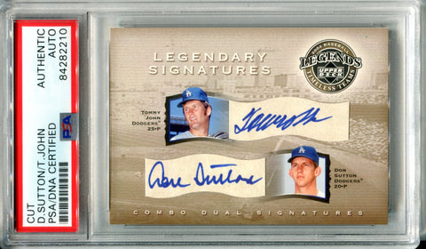 Don Sutton & Tommy John Autographed 2004 Upper Deck Legends Card (PSA)