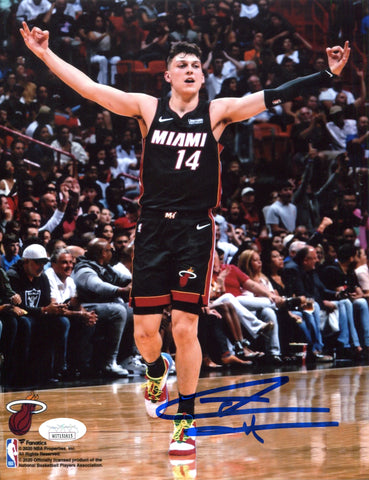 Tyler Herro Autographed Celebrating 8x10 Photo (JSA)
