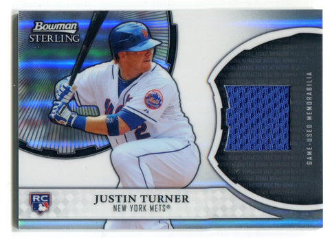 Justin Turner 2011 Bowman Sterling Rookie Jersey Card