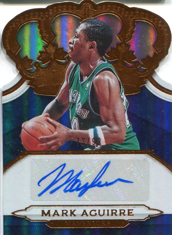 Mark Aguirre Autographed 2018-19 Panini Crown Royale Card