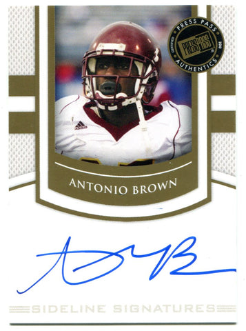 Antonio Brown Autographed 2010 Press Pass Rookie Card