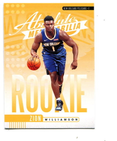 Zion Williamson 2019-20 Panini Absolute Memorabilia #1 Card