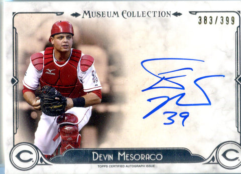 Devin Mesoraco 2014 Topps Museum Collection Autographed Card #383/399