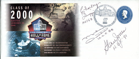 Football Hall of Famers Autographed Pro Football Hall of Fame Class of 2000 Envelope