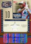 Andre Dawson 2004 Donruss Playoff All Stars Game Worn Jersey & Autographed Card 91/100