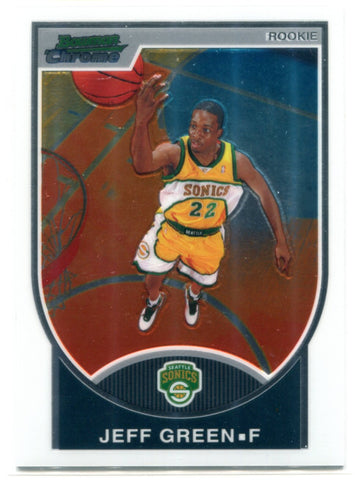 Jeff Green 2007-08 Bowman Chrome Card #114
