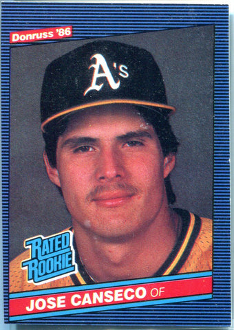 Jose Canseco 1985 Donruss Rated Rookie Card