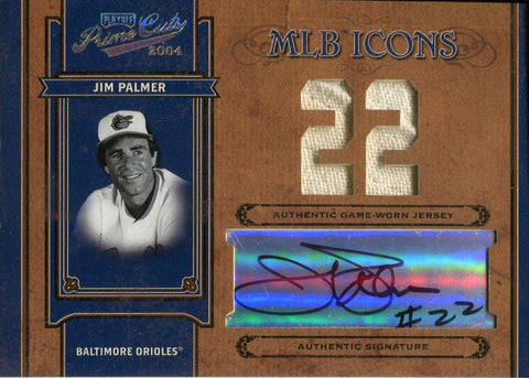 Jim Palmer 2004 Donruss Playoff Prime Cuts Game Worn Jersey & Autographed Card 20/22