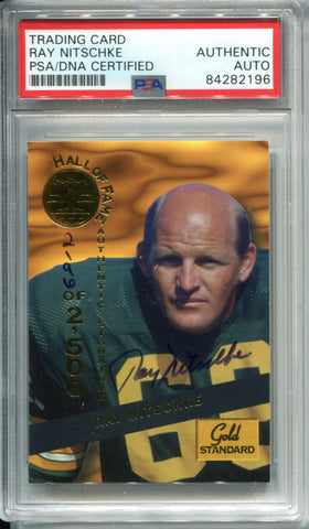Ray Nitschke Autographed 1994 Signature Rookies Card (PSA)