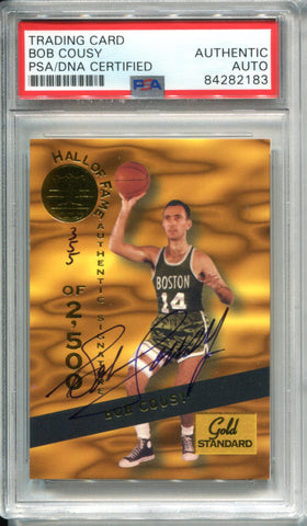 Bob Cousy Autographed 1994 Signature Rookies Card (PSA)