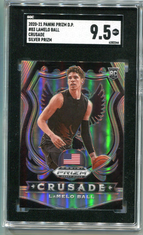 LaMelo Ball 2020-21 Panini Prizm Draft Picks #83 Silver Card (SGC MT 9.5)
