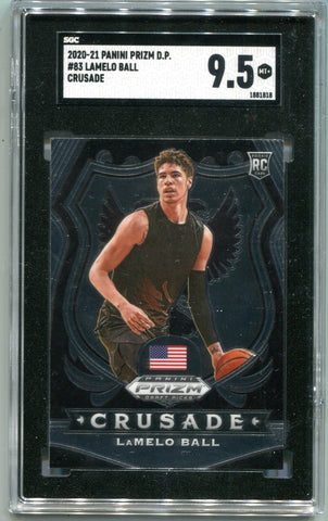 LaMelo Ball 2020-21 Panini Prizm Draft Picks #83 Card (SGC MT 9.5)