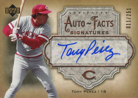 Tony Perez 2006 Upper Deck Auto-Facts Signatures 11/251