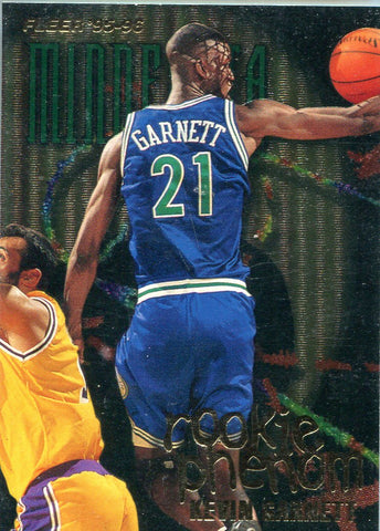 Kevin Garnett 1995-96 Fleer Rookie Phenom Card
