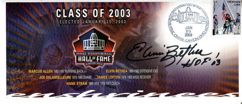 Elvin Bethea Autographed Pro Football Hall of Fame Class of 2003 Envelope