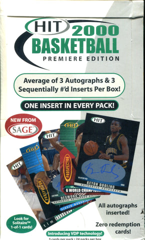 HIT 2000 Basketball Premiere Edition Hobby Box