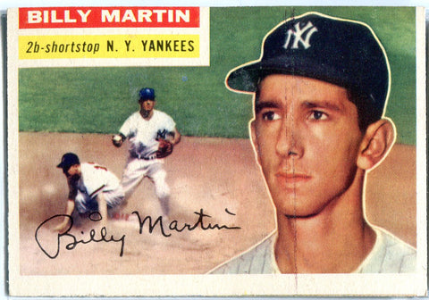 Billy Martin 1956 Topps Card