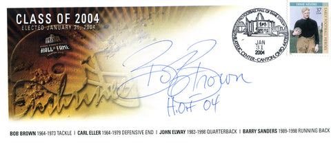 Bobby Brown Autographed Pro Football Hall of Fame Class of 2004 Envelope