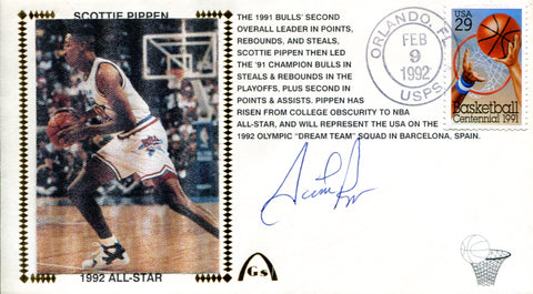 Scottie Pippen Autographed First Day Cover (JSA)