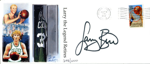 Larry Bird Autographed Larry the Legend Retires Envelope (JSA)